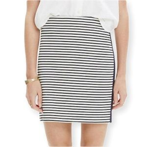 Madewell Eventide Striped Zipper Skirt